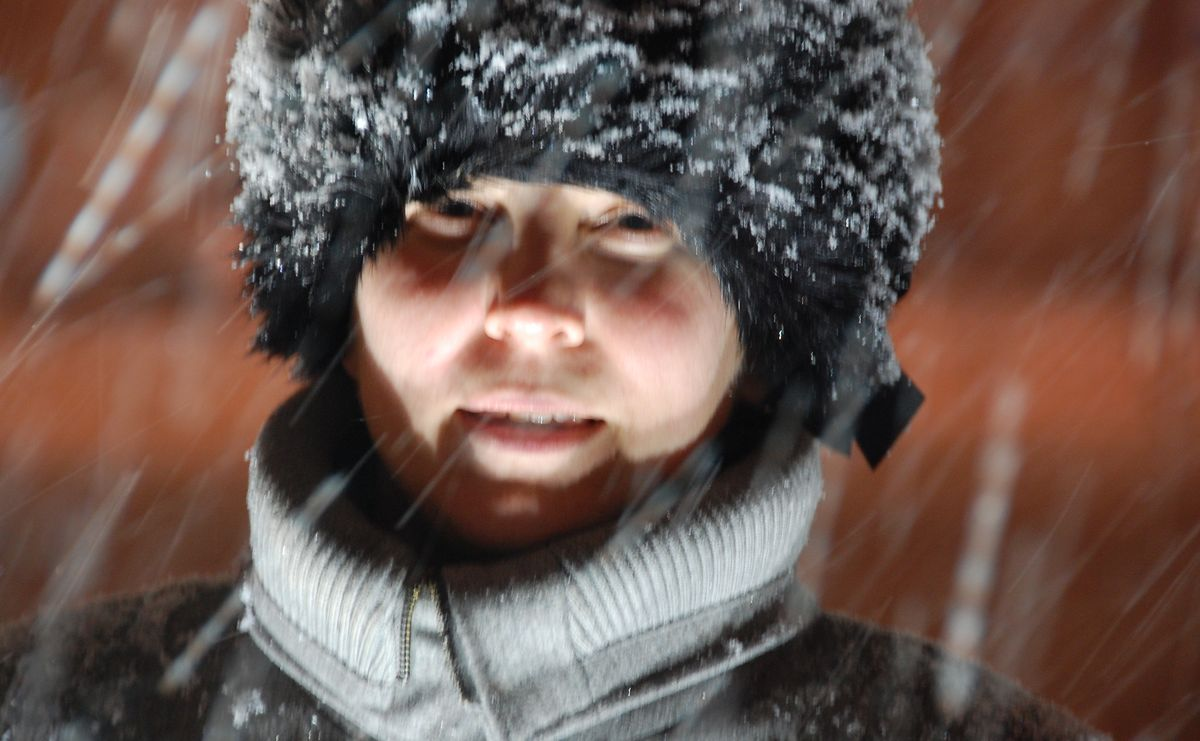 Ukraina snö
