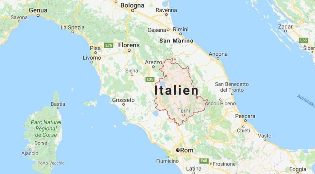 Umbrien i Italien