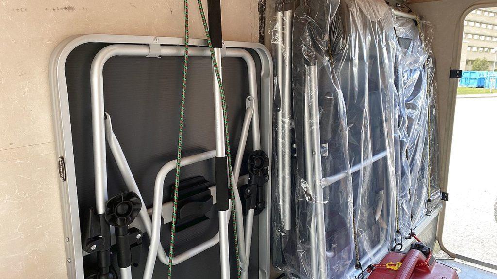 Inredning i husbilens garage