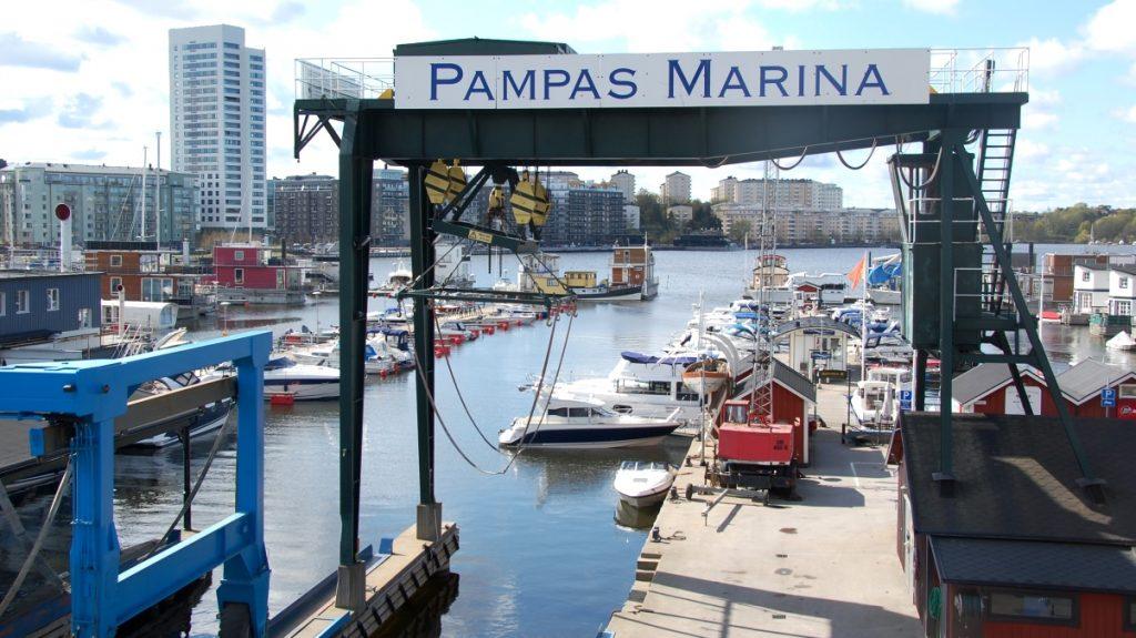 Utsikt över Pampas marina