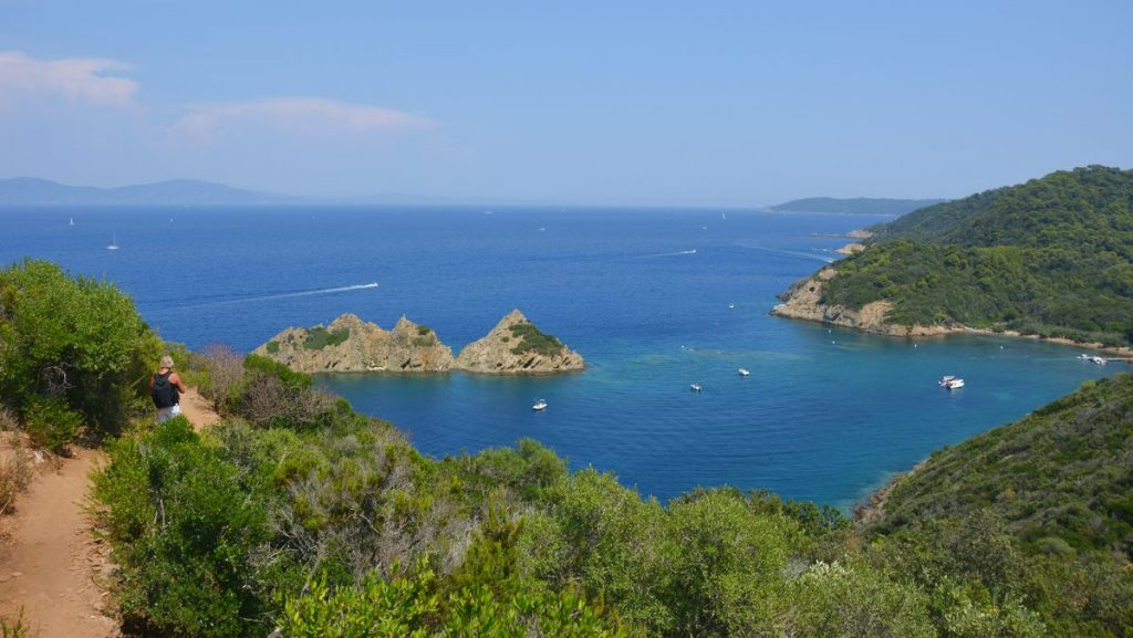 Utsikt Port-Cros i Frankrike