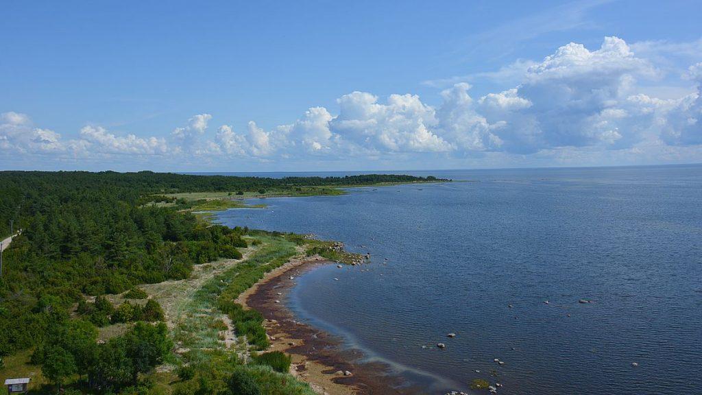 Utsikt från fyren på Kynö i Estland