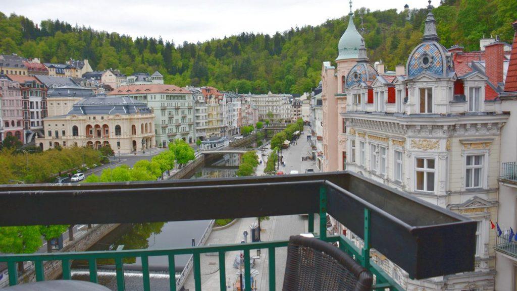 Utsikt från hotell i Karlovy Vary