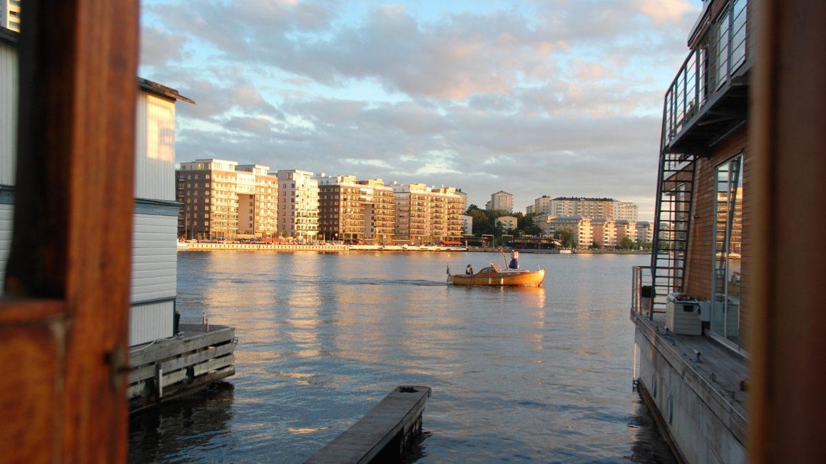 Utsikt från husbåtar