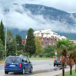 Norrut längs Montenegros kust