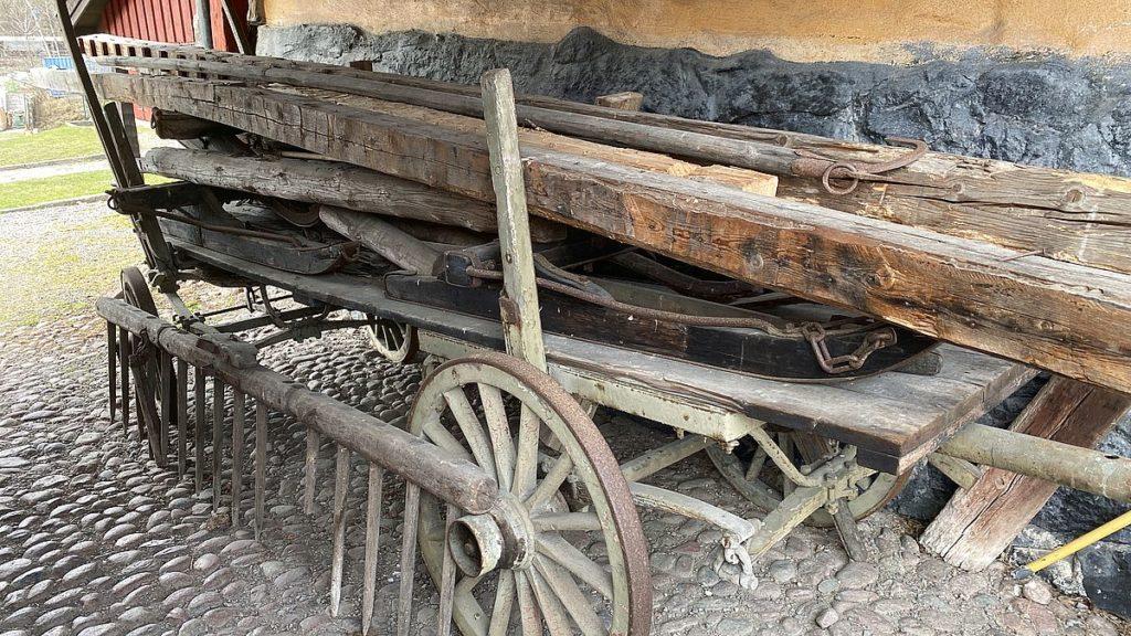 Vagn vid Huvudsta gård
