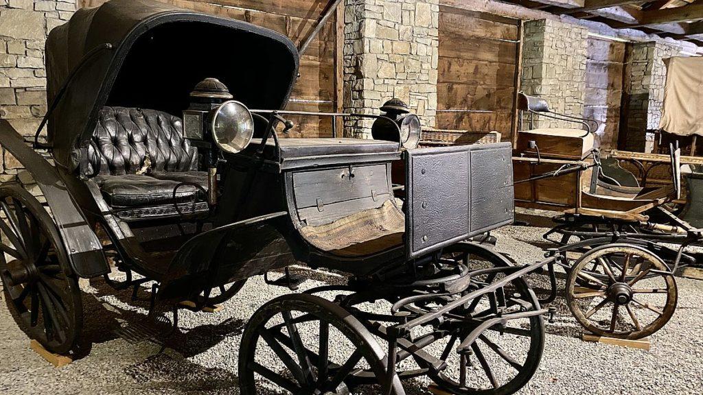 Friluftsmuseum i Tjeckien - vagnar