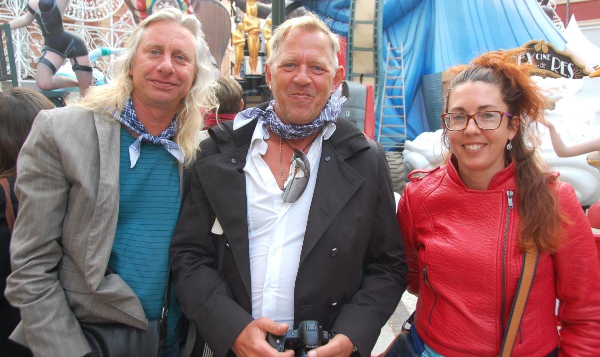 Peter med våra bloggvänner och fantastiska Valencia-guider, Peter och Eva