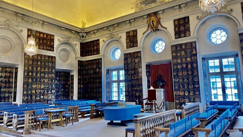 Riddarhuset i Stockholm - riddarsalen