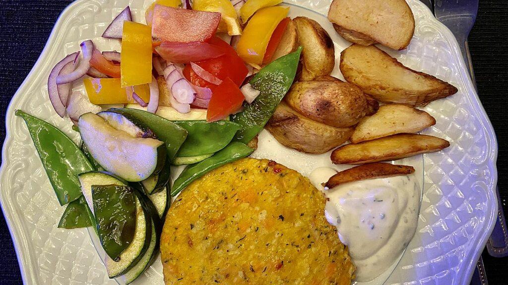 Nya matvanor - veggobiff med potatis och grönsaker