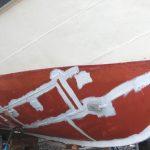Vi målar båtskrov