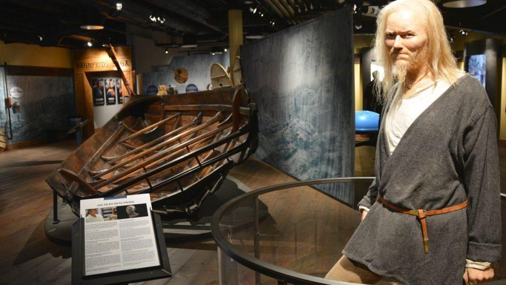 viking på vikingamuseum i Stockholm