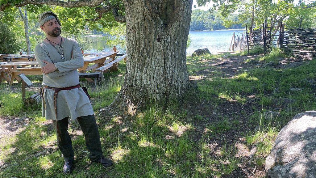 Viking vid Vikingabyn Storholmen