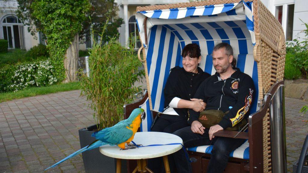Maria, Lars och Curre i Team Parrot