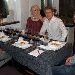 Vinprovning och halloween-middag