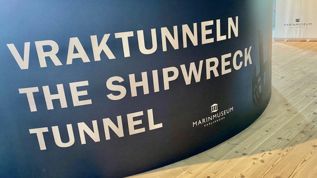 Vraktunneln på marinmuseum i Karlskrona