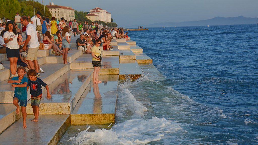 havsorgeln i zadar i Kroatien