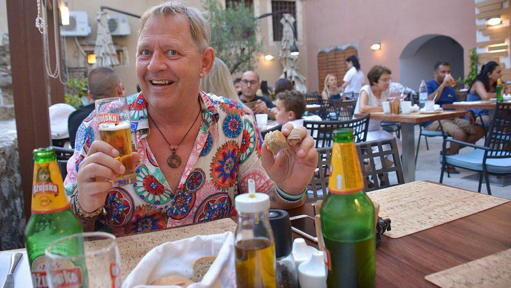 Restaurang i Zadar i Kroatien
