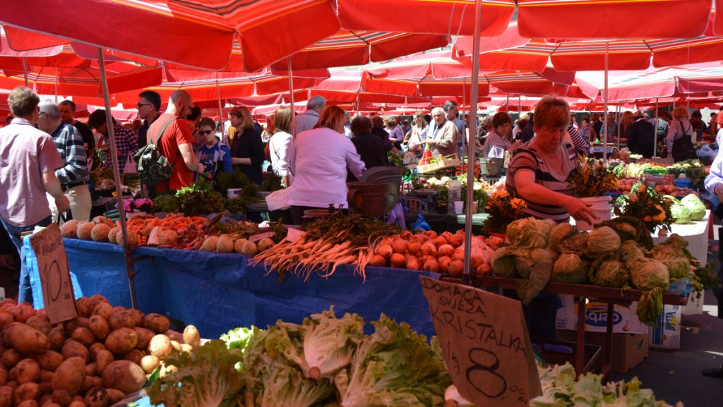 Marknaden i Zagreb