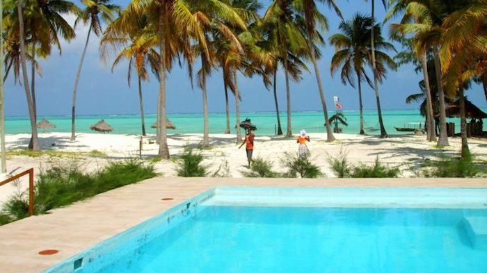 Varmt i februari på Zanzibar