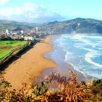 Zarautz i Spanien – Gran camping med panoramavy