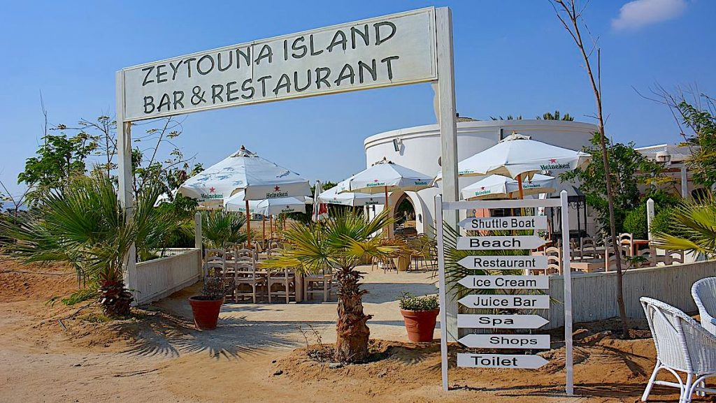 Zeytouna beach island restaurang