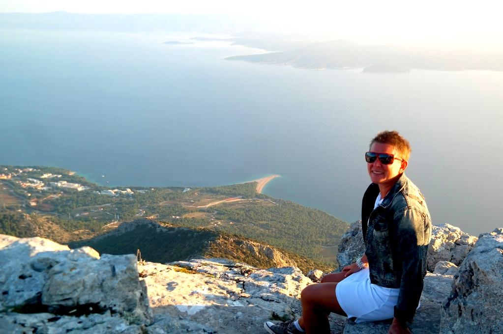Vid den högsta punkten på Brac, Vidova Gora
