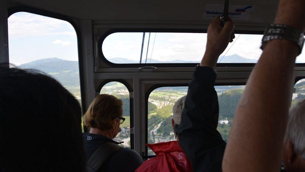 Med linbana till toppen av Untersberg