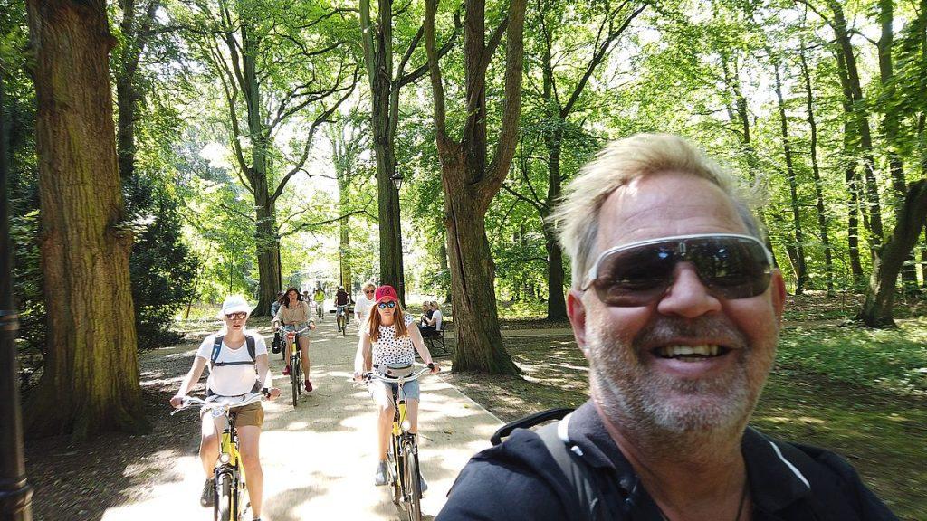 Peter på cykelutflykt