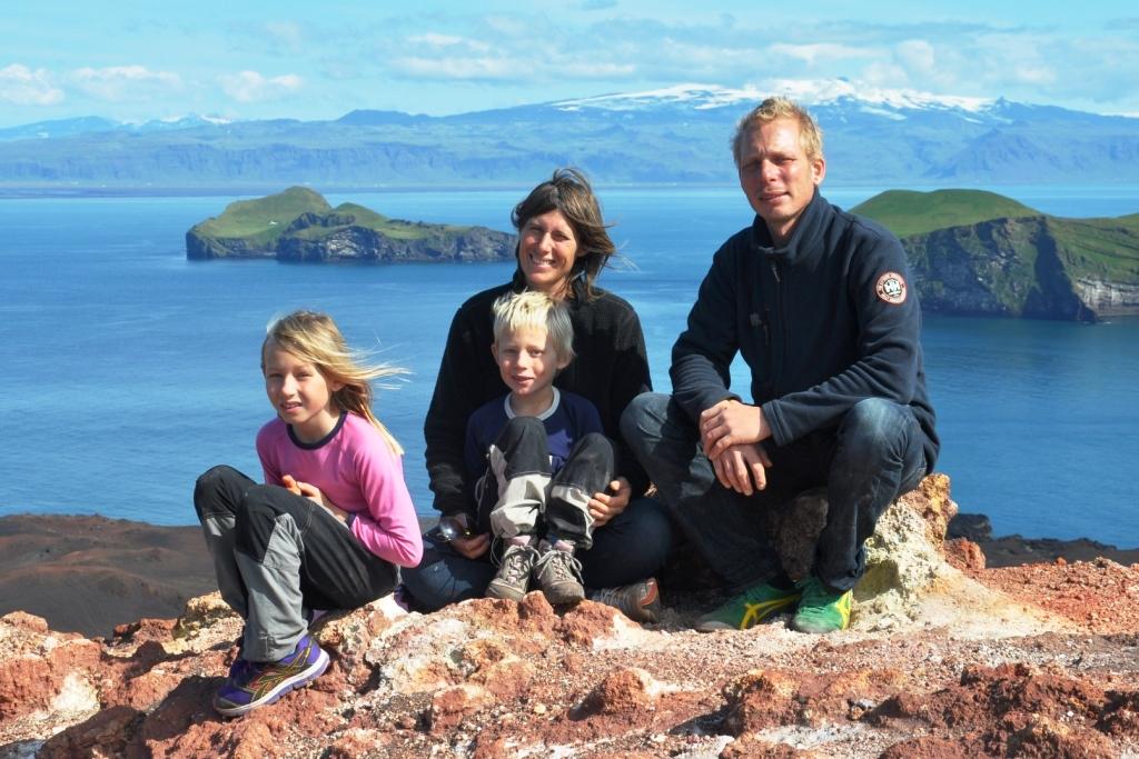 Familjen Hammarberg på Island