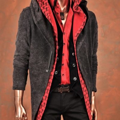 Röd hoodierock