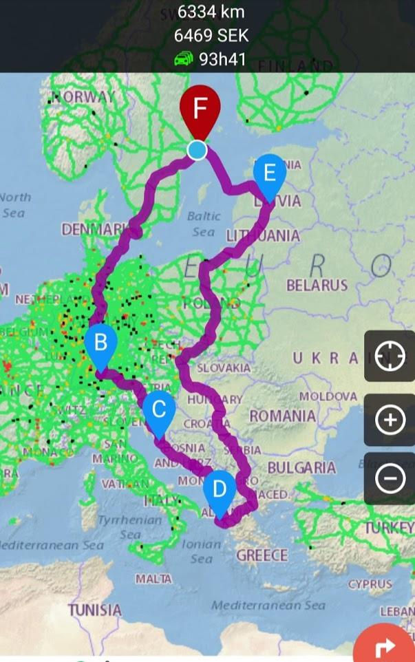 karta husbilsresa