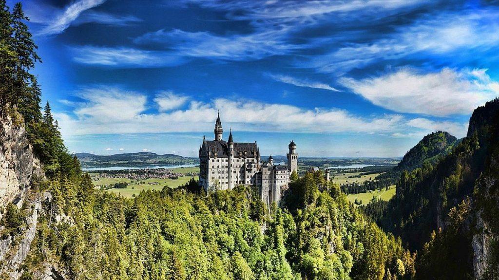 Slott i Tyskland - Neuschwanstein