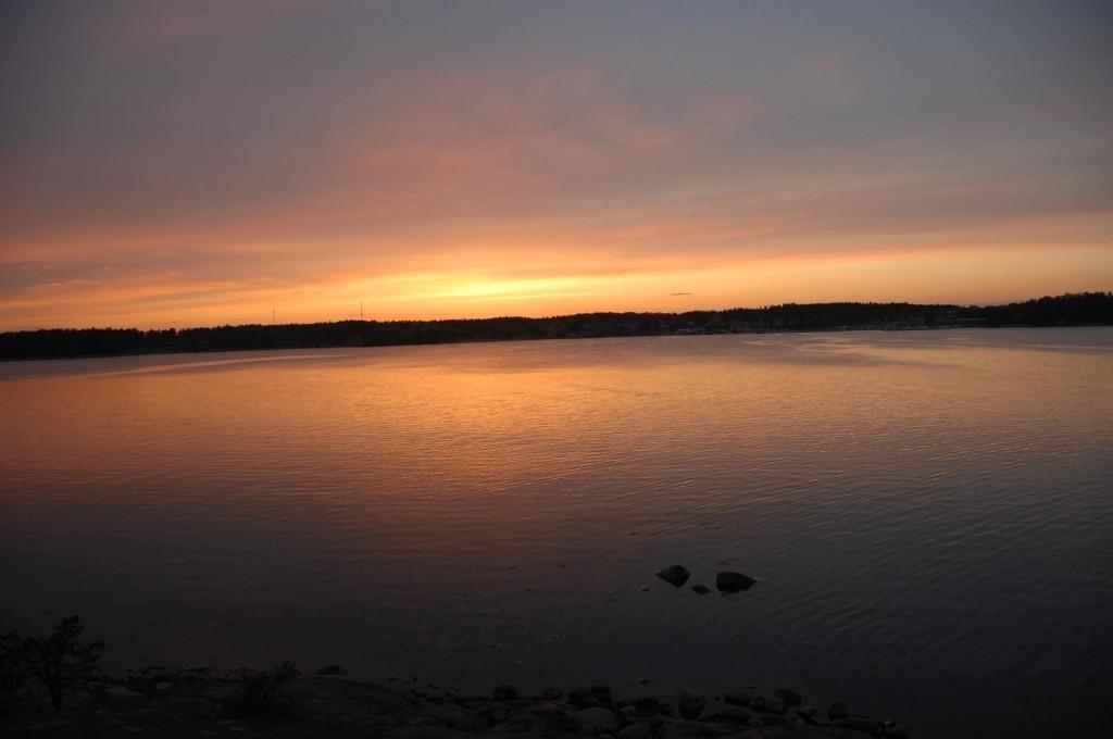 Solnedgång vid Tättö havsbad
