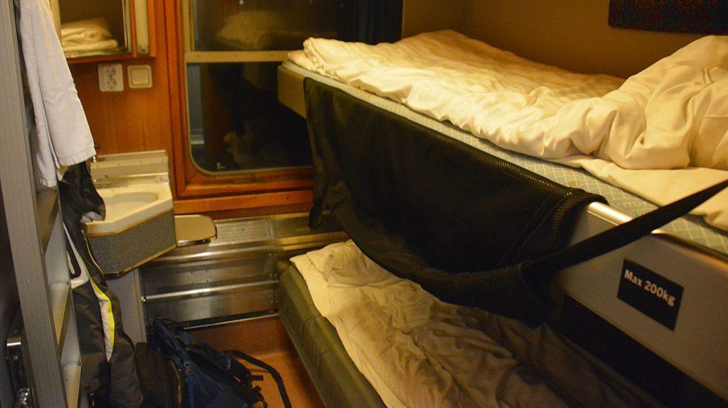 sovvagn på nattåg i Sverige