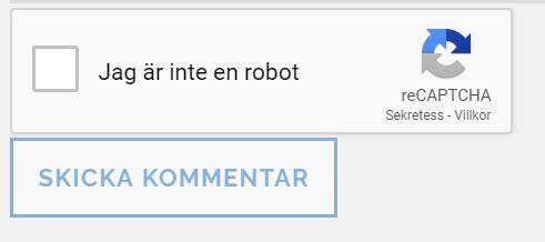 reCAPTCHA för säkerhet på bloggen