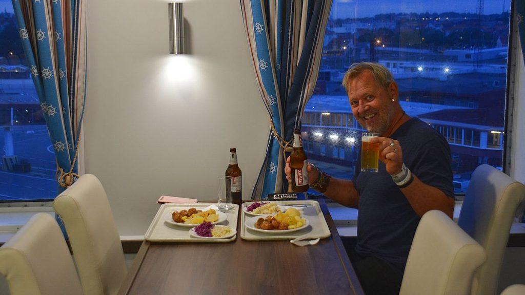 Middag på M/F Cracovia