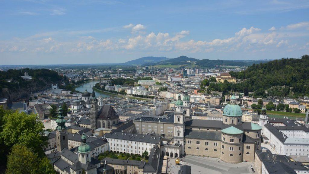 Utsikt över Salzburg