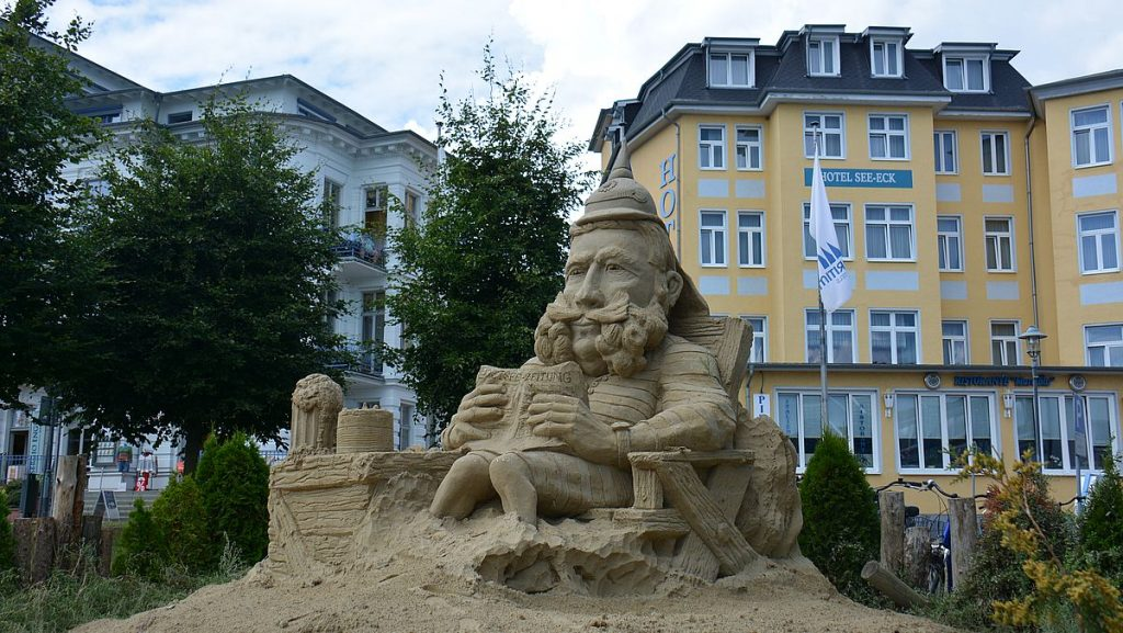 sandslott i Heringsdorf i Tyskland