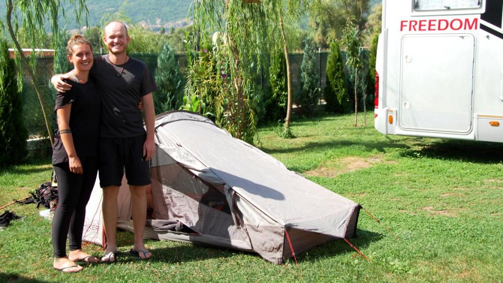 Camping med tält