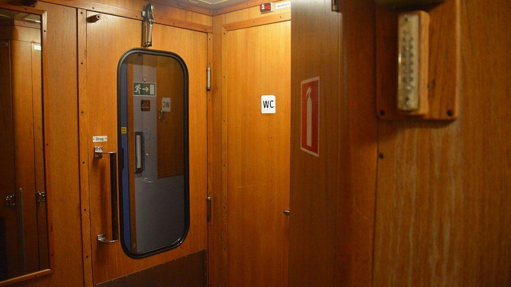 Toalett på nattåg i Sverige