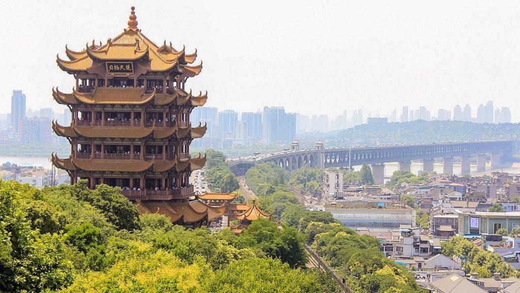 Wuhan i Kina där coronaviruset har utbrott